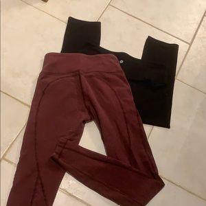 2 LuluLemon tights, like new